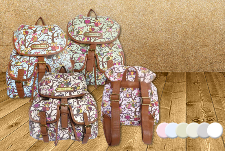 £12 instead of £19.99 (from Get the Trend) for a retro owl-print rucksack in a choice of colours - save 40%