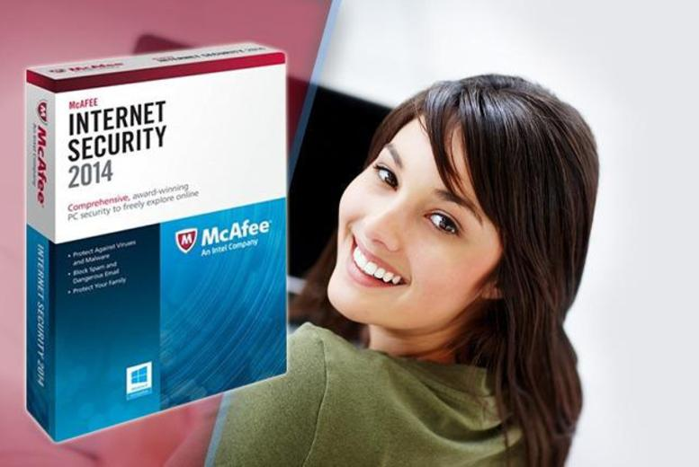 £14.99 (from SRE Computing) for a 1-year McAfee Internet Security 2014 package for up to 3 PCs