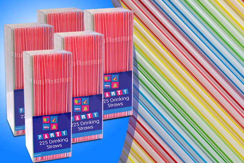 £5.99 for 1125 drinking straws from Wowcher Direct - perfect for parties and BBQs