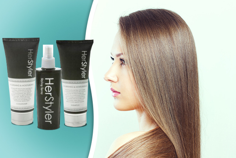 £9.95 instead of £34.95 (from Funtica) for a Herstyler 3-piece haircare set - keep those locks looking luscious and save 72%