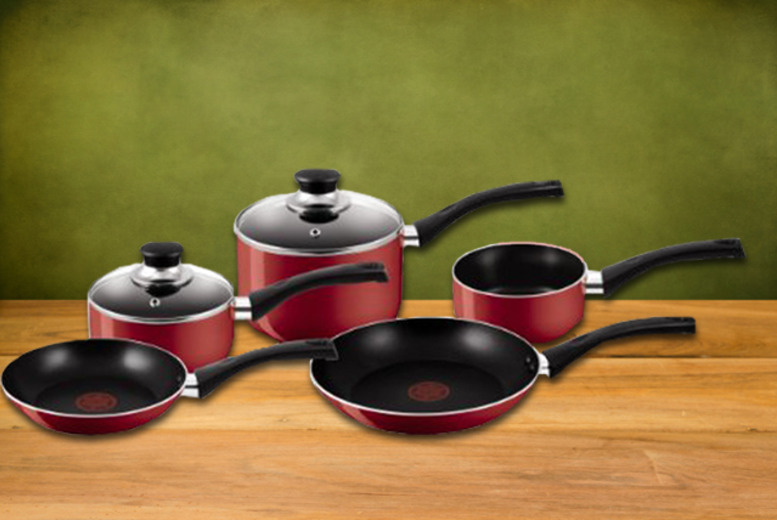 £39.98 instead of £95.01 for a 5-piece Tefal Essential or Bistro cookware set - save 58%
