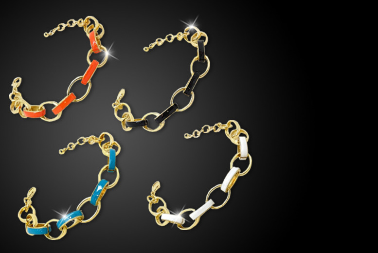 £10 instead of £40 (from Cian Jewels) for an 18ct gold-plated chain bracelet in a choice of colours - save 75%