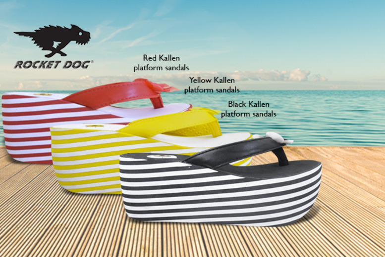 £14.99 instead of £25 (from Urban 2 U) for a pair of Rocket Dog wedge sandals valid in 8 styles - save 40%