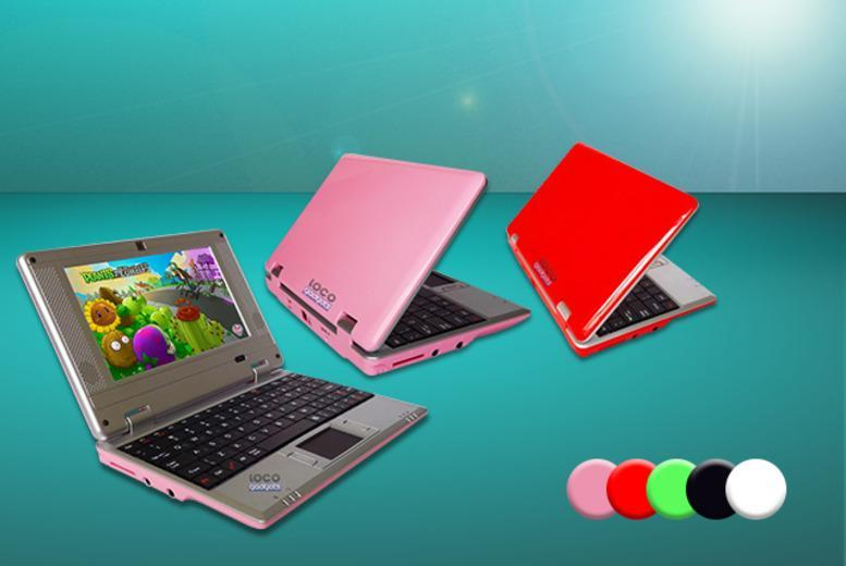 "£49.99 instead of £119.99 (from Loco Gadgets) for a  7"" Google Android netbook - choose from 5 colours and save 58%"