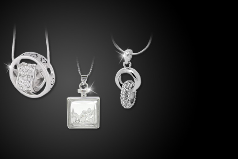 £9 instead of £50 (from Cian Jewels) for a choice of embellished pendants, or £18 for all three - save up to 82%