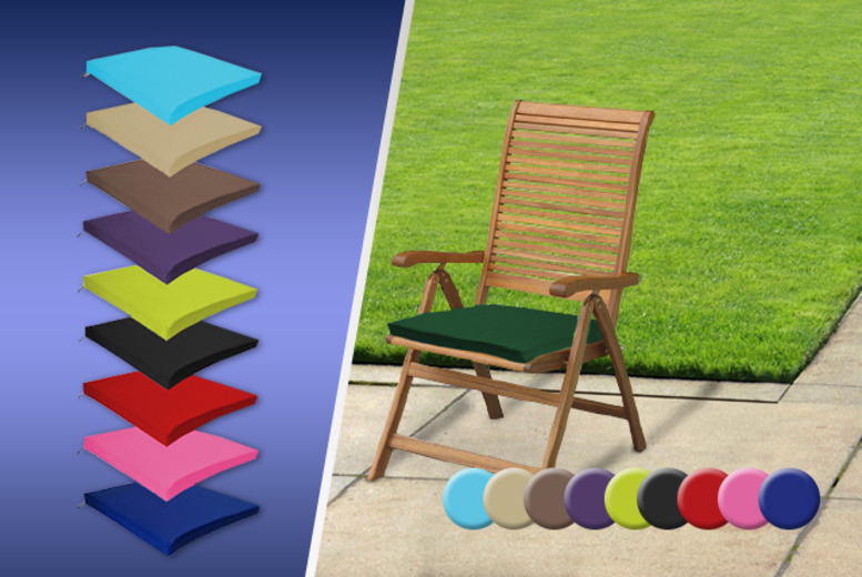 £14.99 for a waterproof outdoor garden furniture cushion valid in 10 colours, £24.97 for 2 from Wowcher Direct - save up to 42%