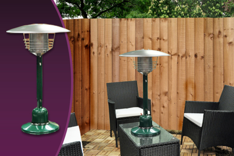 £72.99 for an outdoor table top patio heater from Wowcher Direct