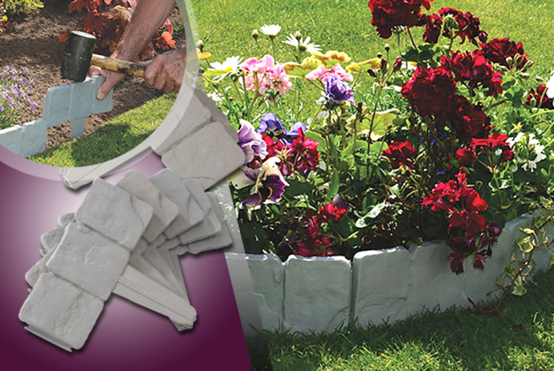 £7.99 instead of £19.99 (from Home Shopping Selections) for 10 cobbled stone-effect garden edging panels, £12.99 for 20 - save up to 60%