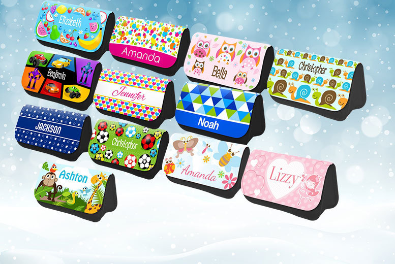£5.99 instead of £14.99 (from Dinkleboo) for a personalised pencil case, £8.99 for two - choose from 12 designs and save up to 60%