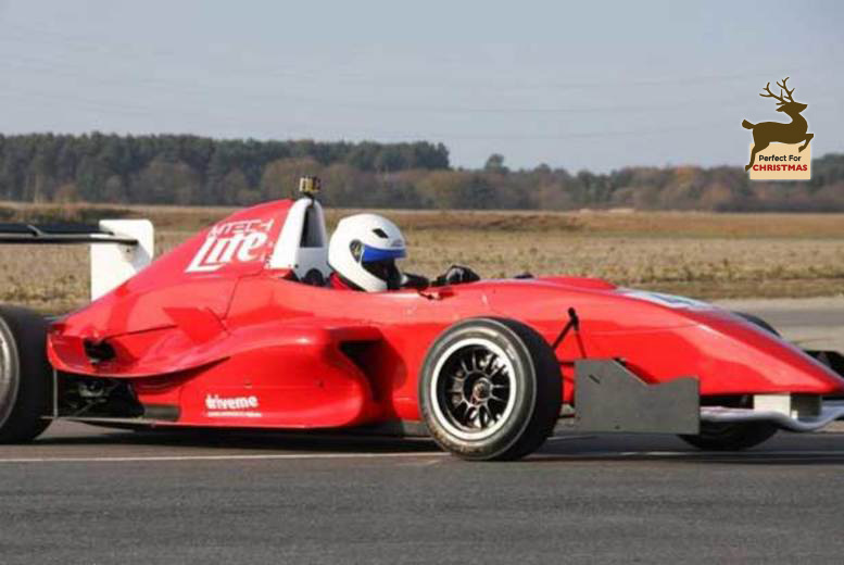 £74 for six laps in a Formula Renault open wheel racing car, or £99 for 12 laps with Drive Me - choose from three UK locations and save 50%