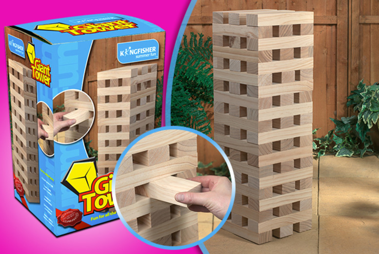 £17.99 for a giant wooden blocks garden game from Wowcher Direct - perfect for summer!