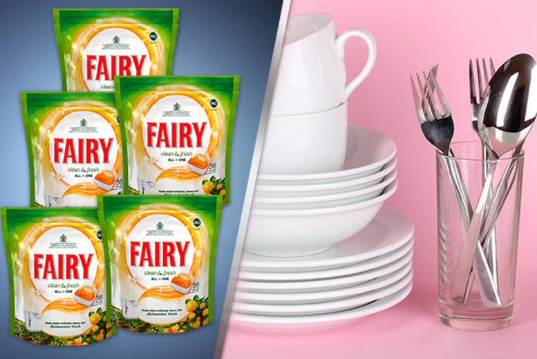 £24.99 instead of £46.01 for 6-month* supply of Fairy Fresh Citrus dishwasher tablets from Wowcher Direct - save 46%