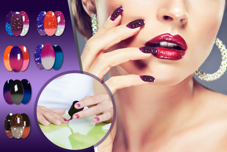 £12.99 instead of £32.37 (from RYV Products) for a 3-piece set of colour-changing 'Mood Swing' gel polishes - choose from 5 sets and save 60%