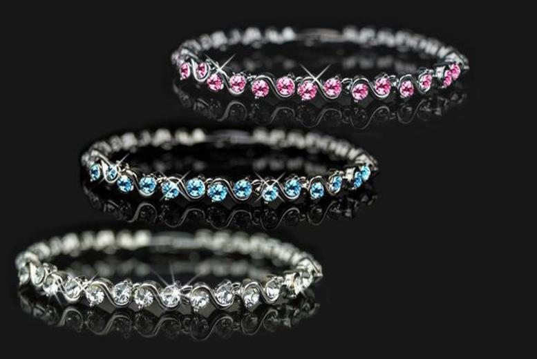 £10 instead of £49 (from Aspire) for a tennis bracelet - choose from 3 colours and save a sparkling 80%