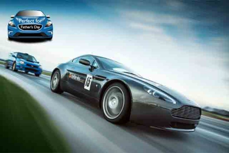 £79 instead of £159 for a 2-hour Aston Martin V8 Vantage supercar experience inc. 10 laps with Drift Limits - save 50%