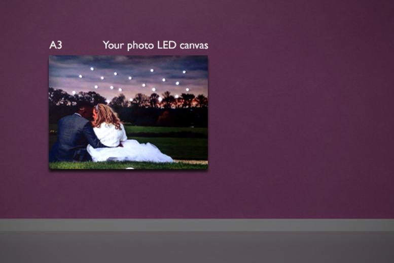 £12.50 (from the LED Canvas Company) for a personalised A3 LED canvas