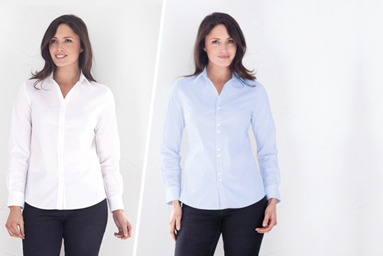 £19 instead of £54.05 (from Joseph Turner) for a women's essential stretch work shirt, or £35 for two shirts - save up to 65%