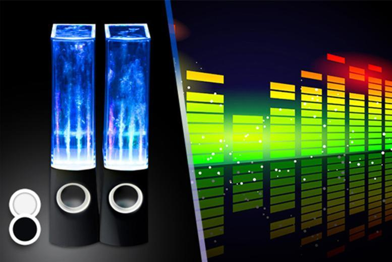 £14.99 instead of £49.99 (from Chimp Electronics) for a pair of dancing water speakers in a choice of black or white - save 70%