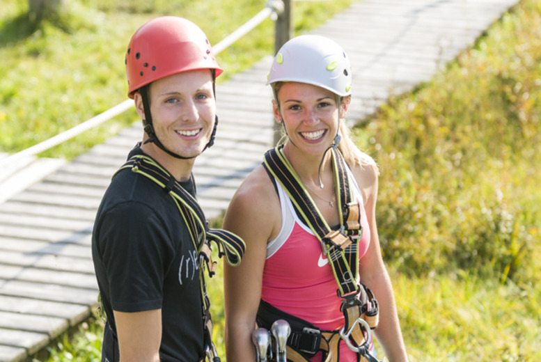 £6 for a Sky Trail high ropes adventure experience for 2 people, or £12 for 4 people at Planters Garden Centre, Tamworth - save up to 50%