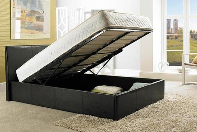 super king ottoman storage bed shop wowcher. Black Bedroom Furniture Sets. Home Design Ideas