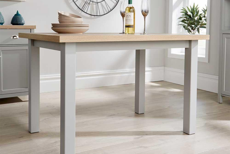Image of 1.2M Grey Dining Table | Living Social