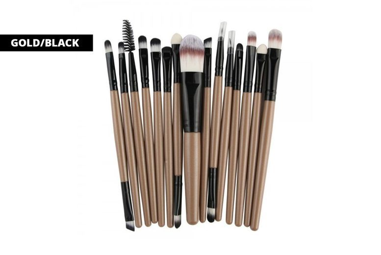 Image of 15-Piece Soft Makeup Brushes Set | Pink | Living Social