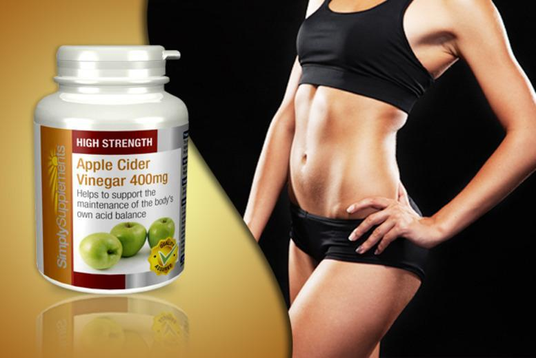 £6 instead of £17.99 (for Simply Supplements) for a 1-year* supply of apple cider vinegar supplements - save 67% + DELIVERY INCLUDED