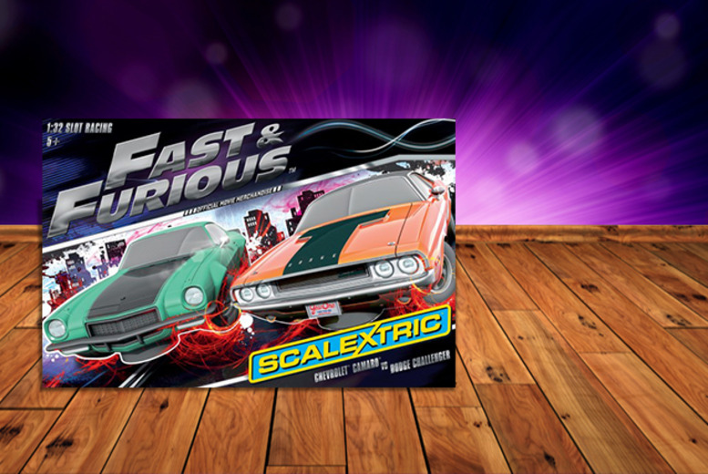 £49.99 instead of £92.02 for a Fast and Furious Scalextric set from Wowcher Direct - save 46%