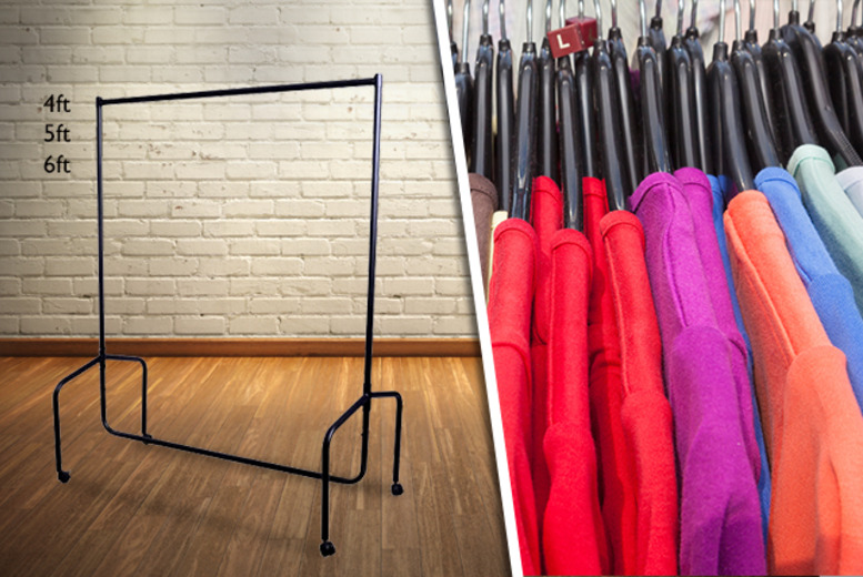 £19.99 instead of £44.99 (from Aosom) for a heavy duty 4ft clothes rail, £24 for a 5ft rail or £27 for a 6ft rail - save up to 56%