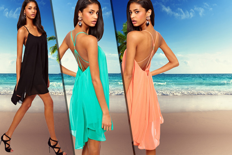 £9 instead of £27 (from Bluebell Retail) for a scoop back chiffon dress - save 67%