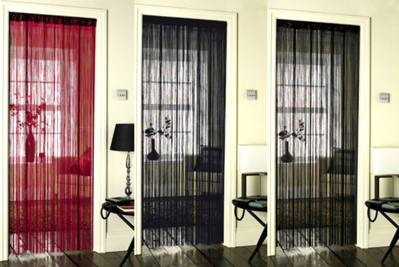 £6 for a set of string door curtains valid in a variety of designs, £11 for 2 sets or £20 for 4 sets from Wowcher Direct