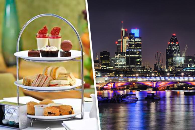 £24.50 instead of £43 for afternoon tea for 2, or £29 inc. a glass of Champagne or a cocktail each at Hilton London Docklands - save up to 43%