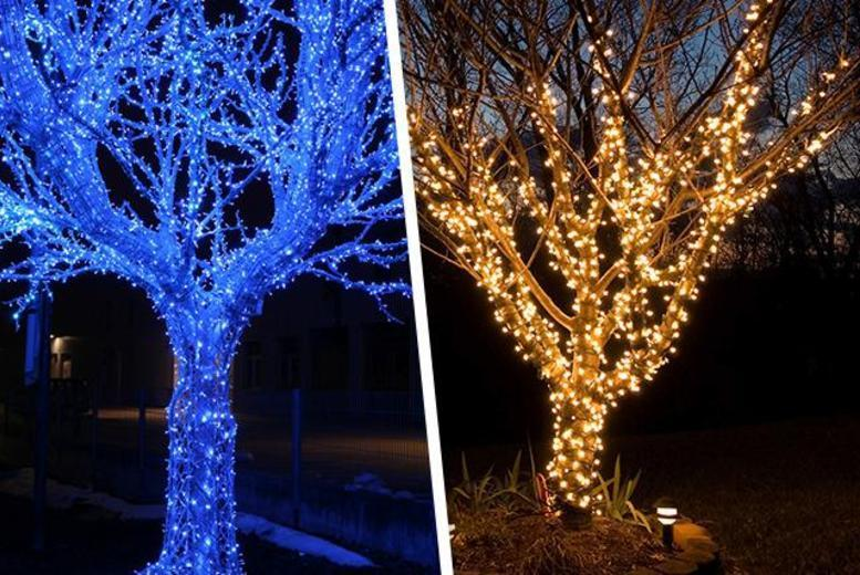£6.99 (from LEDlive) for 50 blue or white solar-powered LED garden lights, £10.49 for 120 or £15.99 for 200 - save up to 72%
