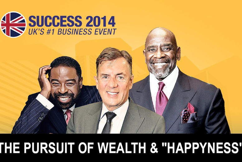 "£21 for a gold ticket to see ""The Pursuit of Wealth and 'Happyness'"" with Duncan Bannatyne at Success Summit 2014, The ExCel London - save 30%"