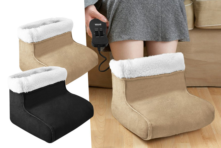 £17 instead of £48.99 (from Fusion Homeware) for an electric foot warmer and massager - choose from two colours and save 65%