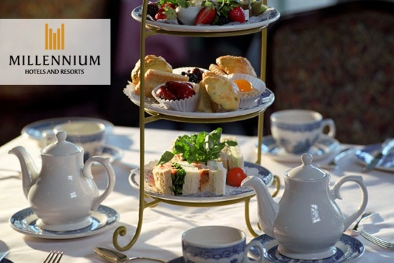 £14 instead of £28 for an afternoon tea for two people, or £19 to include a glass of Champagne each at 4* Millennium Hotel Glasgow - save up to 50%