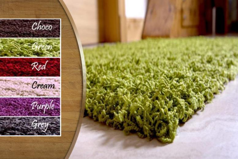 £14 instead of £39 (from Furniture Deals) for a small Sheek shaggy rug in a choice of colours, £19.99 for a large rug - save up to 64%