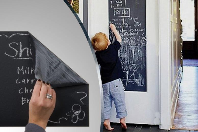 £7 instead of £22.99 (from The Treasure Chest) for a self-adhesive blackboard and 5 chalks - save 70%
