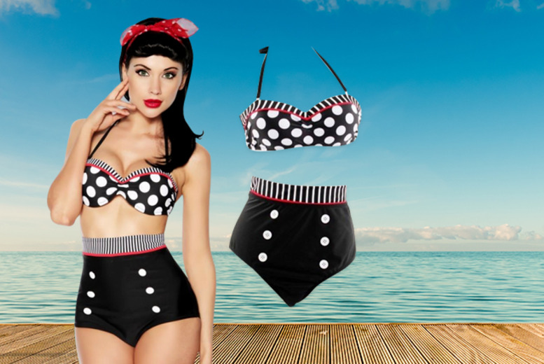 £16 instead of £59.99 (from Bluebell Retail) for a vintage pin-up style high-waisted bikini in a choice of styles - save 73%