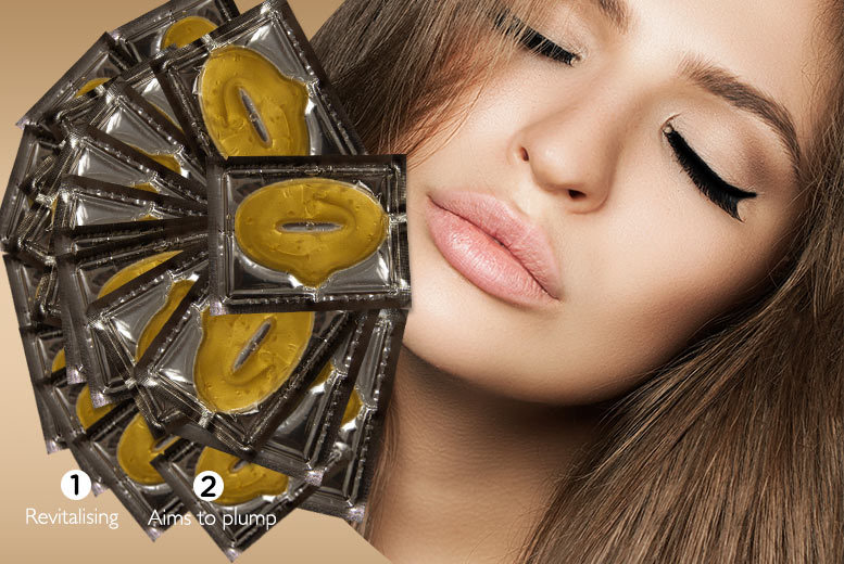 £4.99 instead of £99.98 (from Forever Cosmetics) for a set of 20 gold collagen lip masks - pucker-up for soft, smooth lips and save 95%