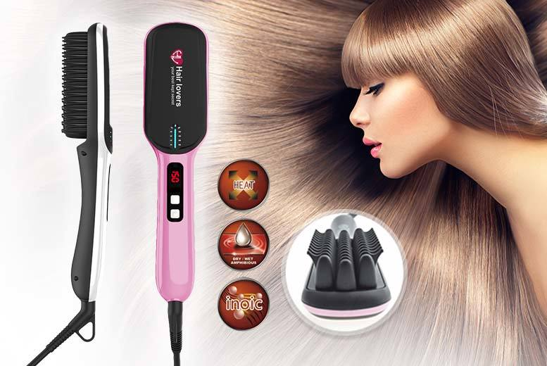 hair straightening brush