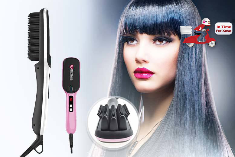 £25 instead of £84.99 (from Hair Lovers) for a premium next gen hair straightening brush - choose from two designs in two colours and save 71%