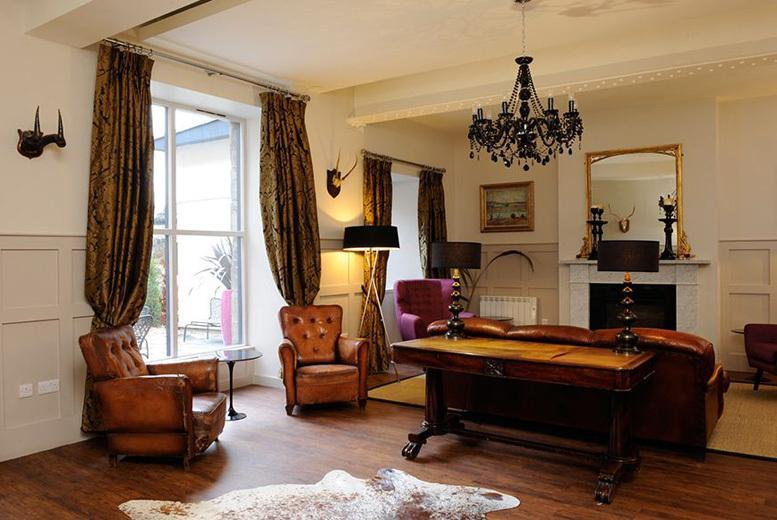 £89 for an overnight Edinburgh stay for two including afternoon tea, a bottle of Prosecco and late check-out, or £139 for two nights at Brooks Hotel - save up to 49%