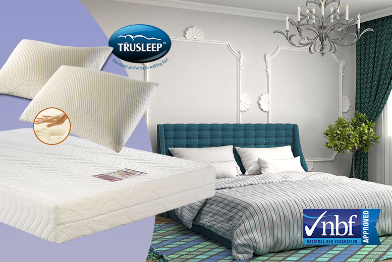 £69 instead of £267.01 (from Trusleep) for a single memory foam mattress and pillow, £89 for a small double or double with two pillows, £99 for a king size - save up to 74%