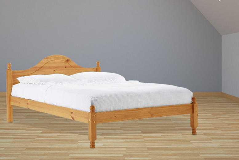 £99.95 instead of £199 (from Fishoom) for a solid pine double bed, £199 to include a memory foam mattress - save up to 50%