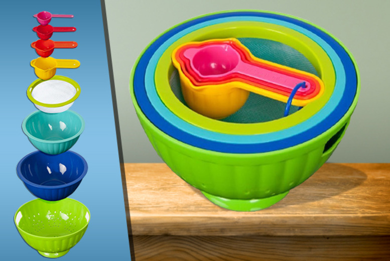£8.99 instead of £39.99 (from Mooch) for an 8-piece colourful kitchen set - save 78%