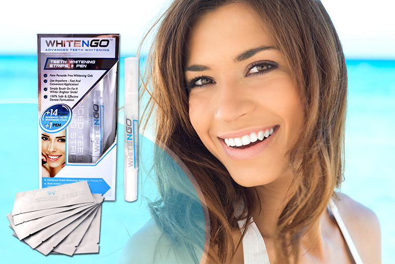 £18 instead of £55.01 (from DVA Beautique) for a pack of 14 WhiteNGo non-peroxide teeth whitening strips plus a teeth whitening pen - save a pearly 67%