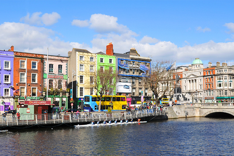 From £79pp instead of up to £121.28pp (with Airbridge Travel) for a 2-night Dublin break including flights - save up to 35%
