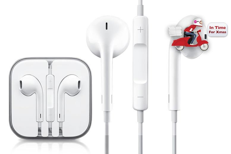 £7.99 (from HandTec) for a pair of Apple EarPods with built-in mic, remote and 3.5mm headphone plug - save 69%