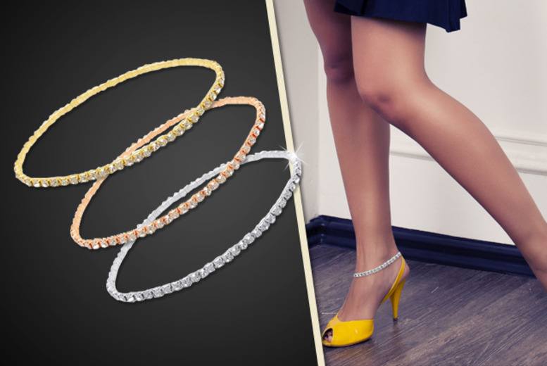 £6 instead of £45 (from Cian Jewels) for a crystal anklet in a choice of colours - save 87%